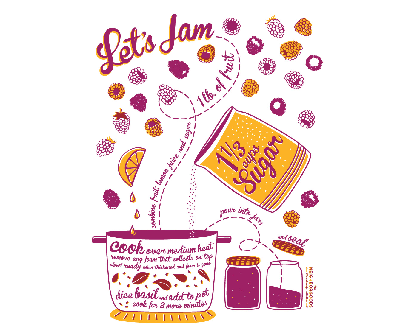 homemade jam illustration
