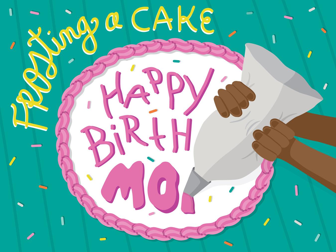editorial cake decorating illustration