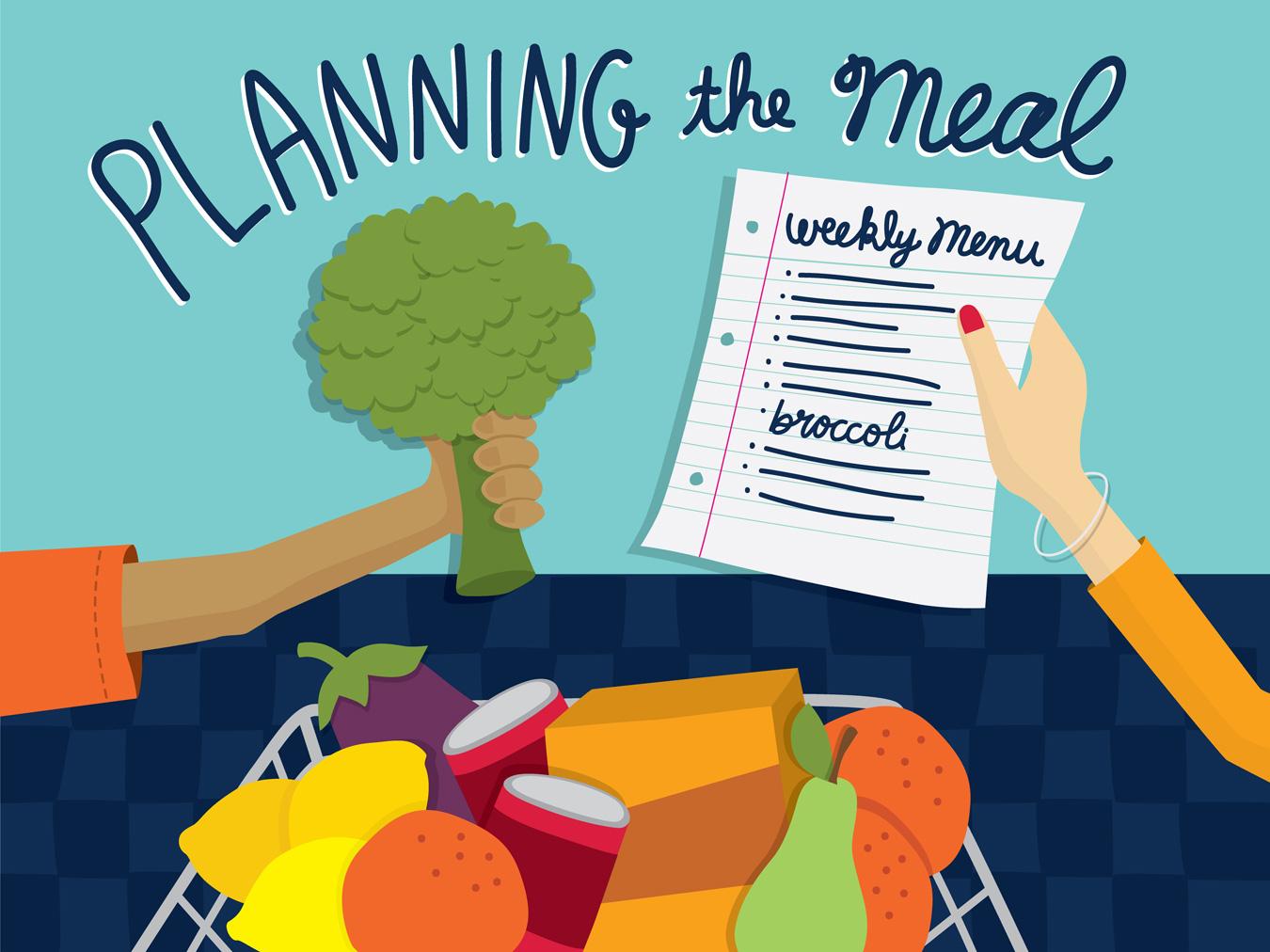 editorial kids and food illustration