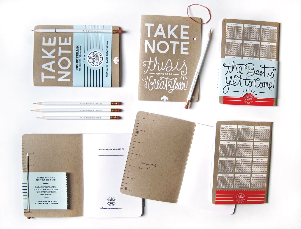 note book mailer design