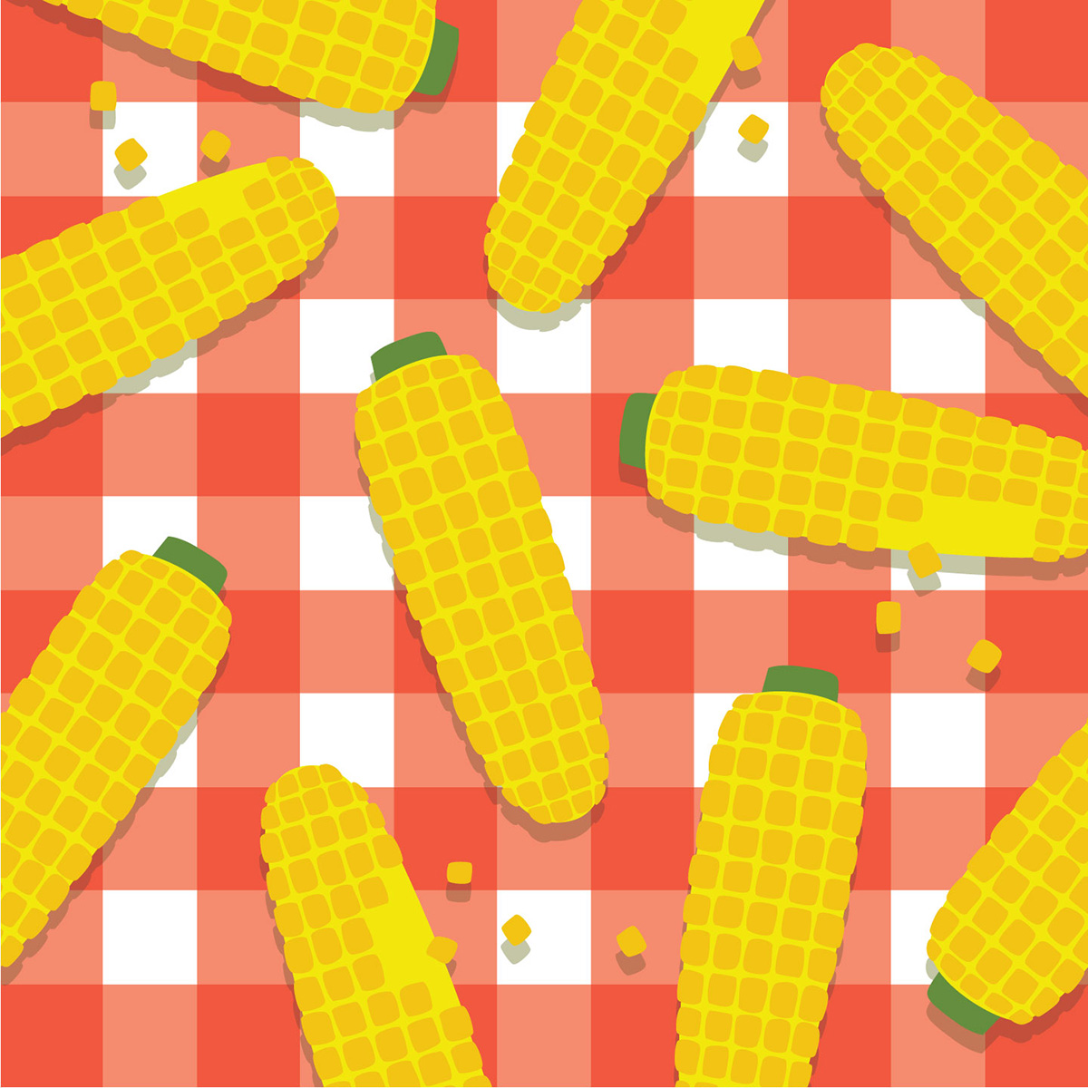 corn on the cob_summer pattern design
